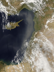 ענן אבק מעל ישראל